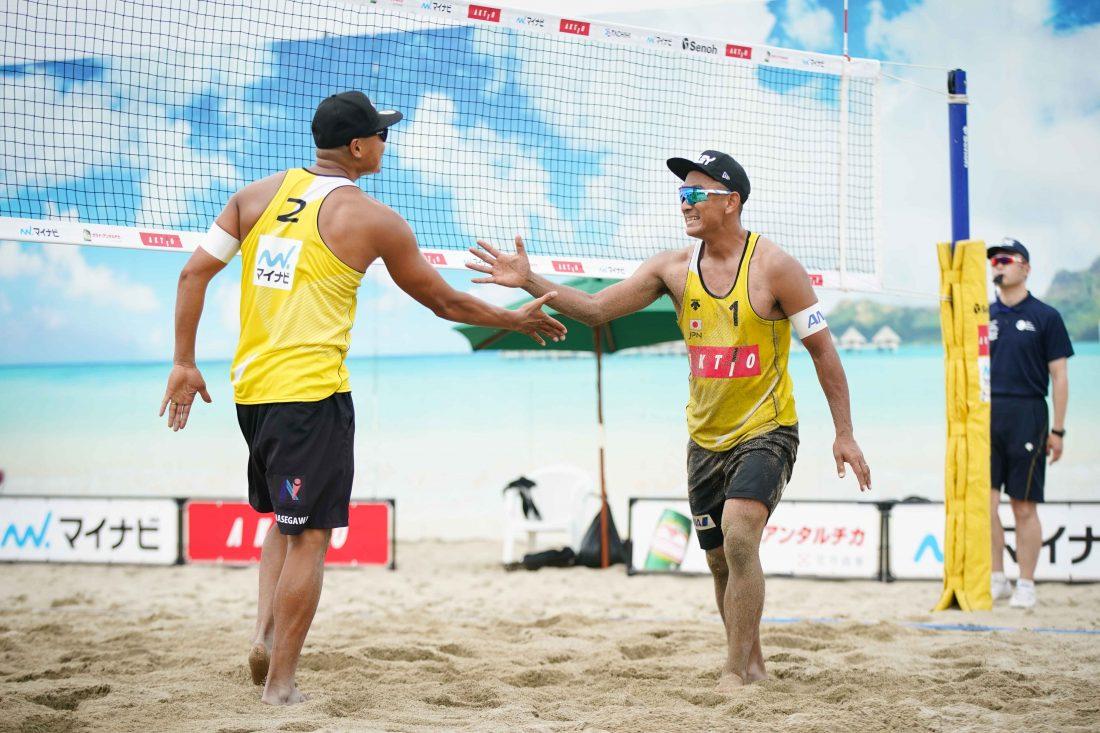 東京2020ビーチバレーボール日本代表チーム決定戦 男子立川立飛大会 第1日目