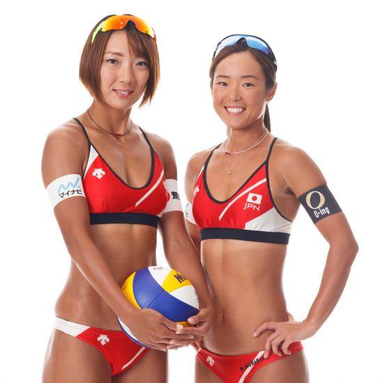 常に高みを目指すアスリートの姿勢を表現。ビーチバレーボール日本代表公式ウェア