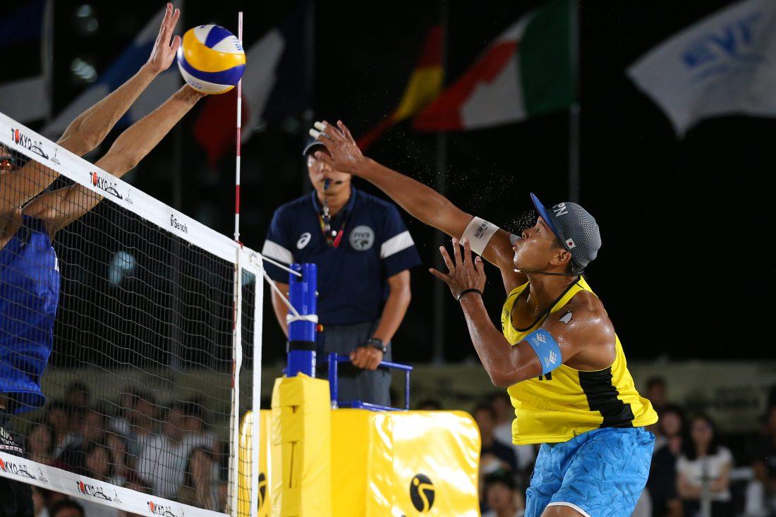 男子4チームが本戦プール戦で姿を消す。FIVBワールドツアー東京大会本戦プール戦。
