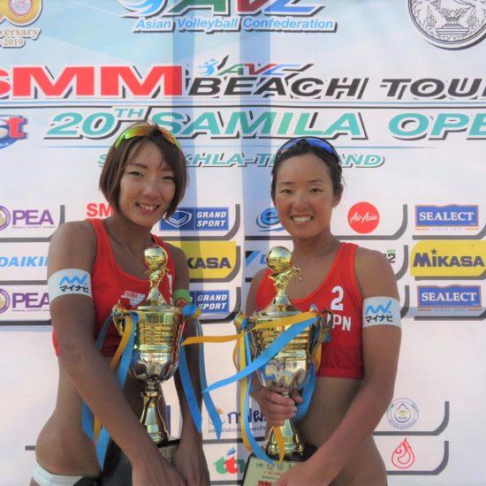 石井/村上組、銀メダル獲得。「AVCアジアツアーサミラオープン」最終日。