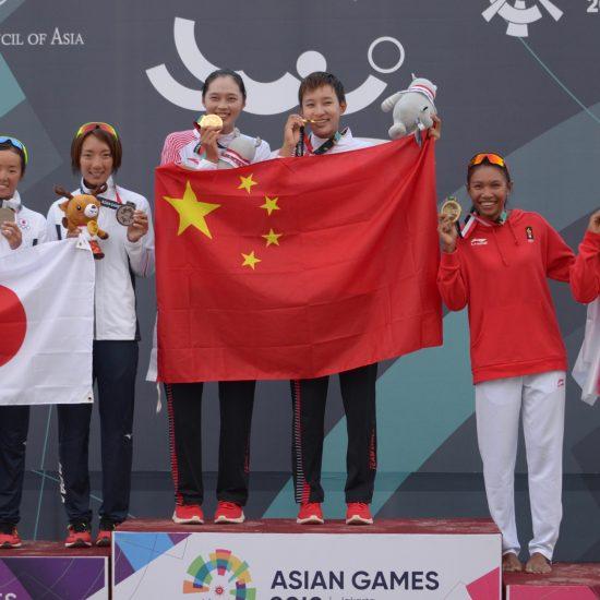 石井/村上組、12年ぶりにメダル獲得。<br>第18回アジア競技大会女子決勝。