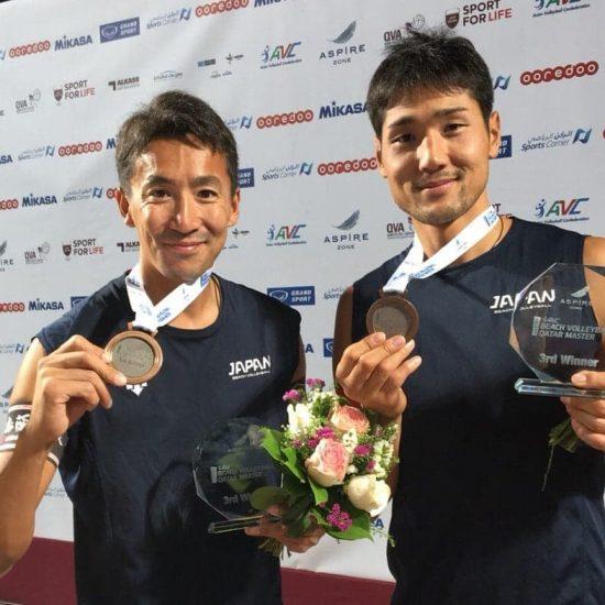 上場/石島組、初陣で銅メダル獲得。<br>「AVCアジアツアーマスター・ドーハ大会」最終日