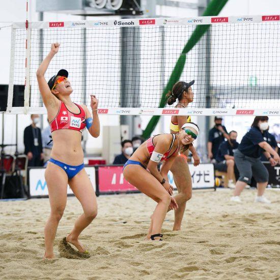 準決勝進出チームが決定 東京2020ビーチバレーボール日本代表チーム決定戦 女子立川立飛大会 第1日目