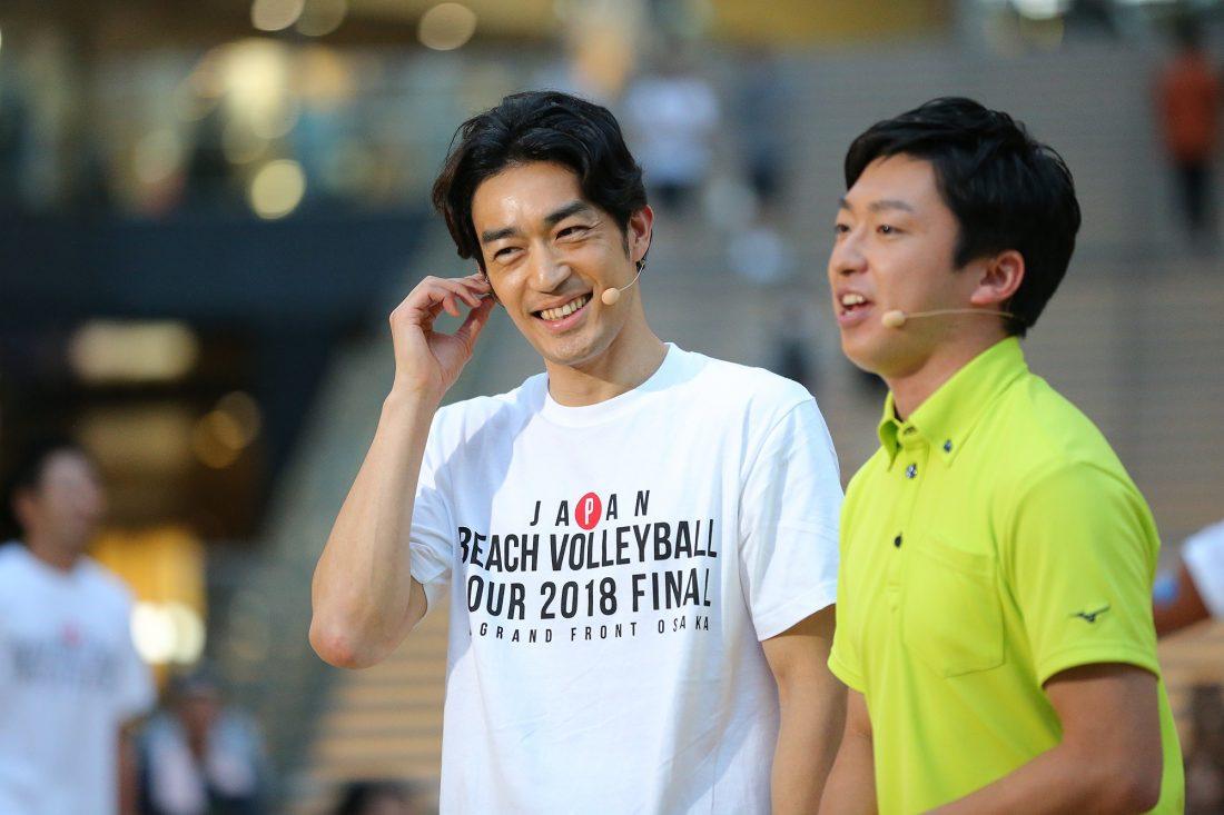 大谷亮平(MBSビーチバレーボールアンバサダー)さん、「選手の苦労を知っているからこそ、わかることを伝えていきたい」