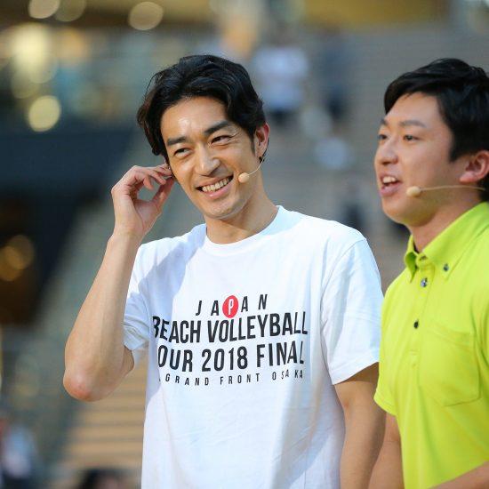大谷亮平(MBSビーチバレーボールアンバサダー)さん、<br>「選手の苦労を知っているからこそ、わかることを伝えていきたい」