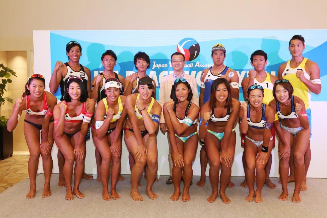 トップ選手がビーチの魅力を発信。一般公開を行った記者会見