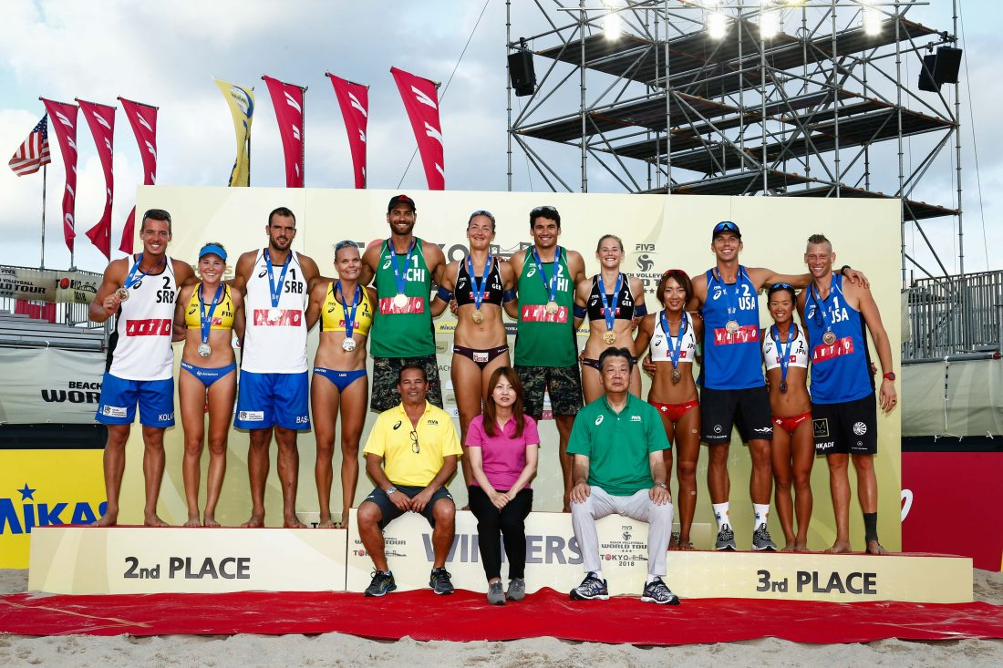 男子はチリ、女子はドイツが優勝。「FIVBワールドツアー東京大会」