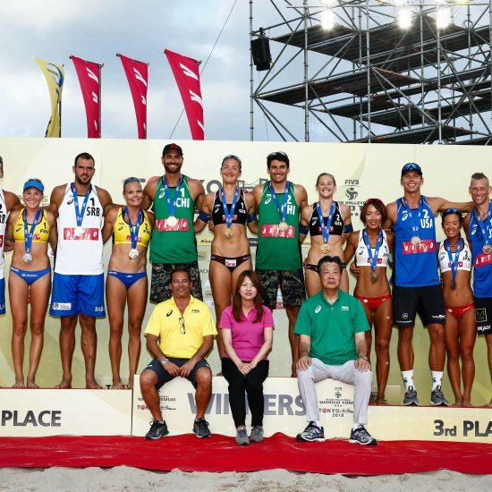 男子はチリ、女子はドイツが優勝。<br>「FIVBワールドツアー東京大会」