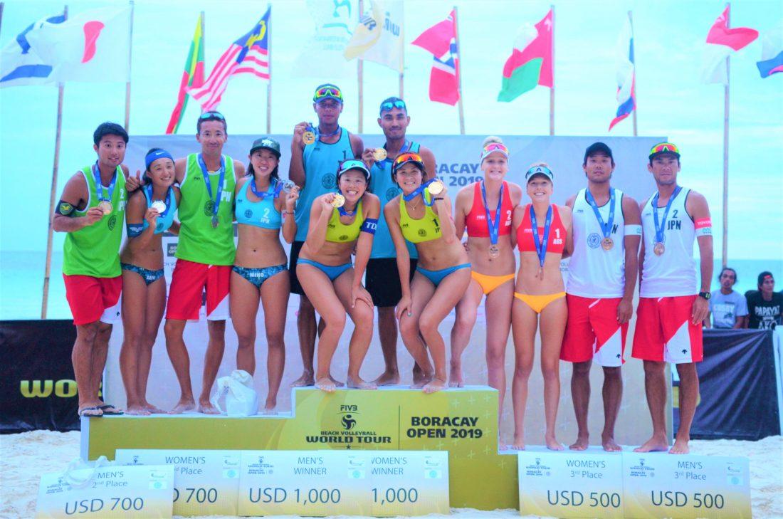 石坪/柴組が金メダル。日本勢が表彰台に上がった「FIVBワールドツアー1-star ボラカイオープン」。