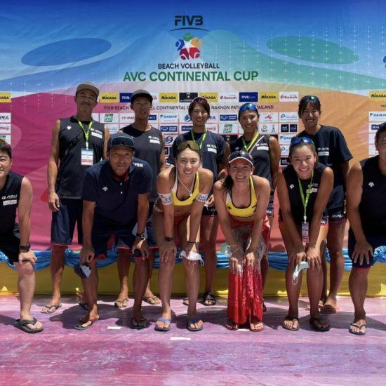 女子日本代表チームは準優勝 AVCビーチバレーボール コンチネンタルカップ アジア大陸予選 ファイナル(第3フェーズ)決勝・中国戦結果