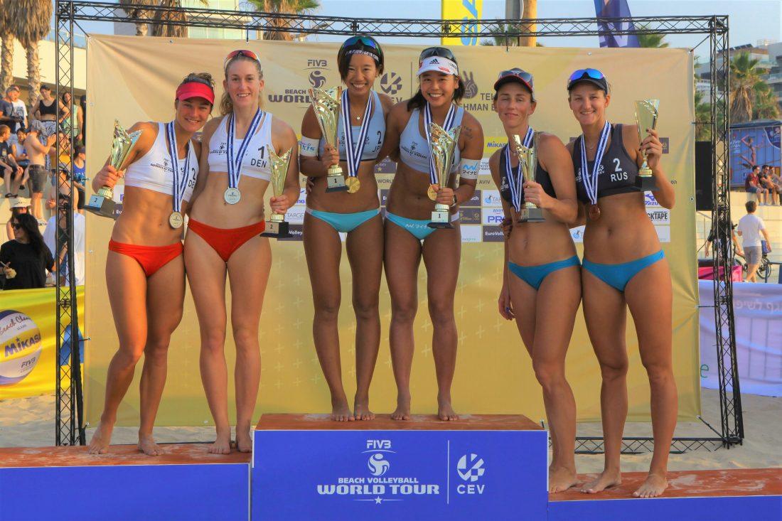 チーム初の金メダルを獲得。「FIVBビーチバレーボールワールドツアー 1-starテルアビブ大会」。