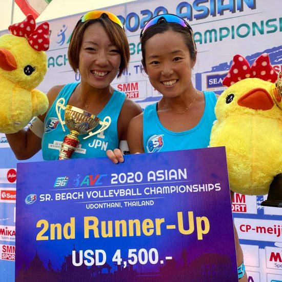 石井/村上組、銅メダル獲得。「アジア選手権2020」